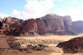 image of jabal  - Beautiful view of the wadi rum in Jordan - JPG