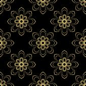 picture of damask  - Floral vector oriental background with damask - JPG