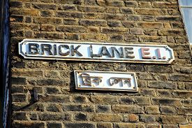 image of hamlet  - Brick Lane road sign in Whitechapel - JPG