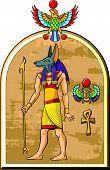 Egyptian god Anubis