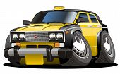 vector cartoon taxi