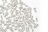 foto of verbs  - Random collection of different words and word - JPG