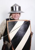 Smiling Medieval Soldier