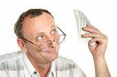 Senior With Dollars