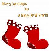 Christmas Santa boots card