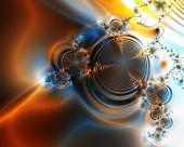 Orange Swirls Abstract Background