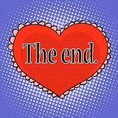������, ������: The end of love red heart