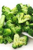 Boiled Broccoli ready for green salad
