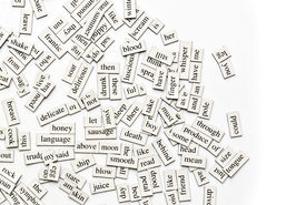 picture of verbs  - Random collection of different words and word - JPG
