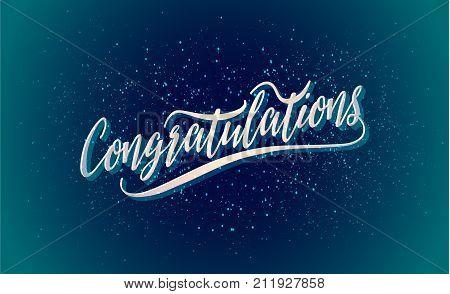congratulations vector holiday illustration congratulations