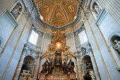 Interior Of St.peter Basilica , Vatican