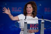 NEW ORLEANS, LA - JUNE 17: Presidential candidate Michele Bachmann addresses the Republican Leadersh