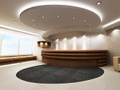 stock photo of reception-area  - A reception area in an office block - JPG