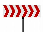 Red And White Direction Sign