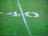 Fußball 40 Yard-Linie