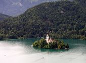 Island Church On Lake Bled