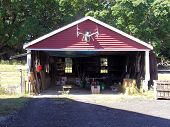 Barn Red Garage Building