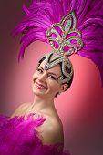 Beautiful Girl In Carnival Costume . poster