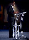 NEW ORLEANS, LA - JUNE 18: George P. Bush, son of former Florida Gov. Jeb Bush, addresses the Republican Leadership Conference on June 18, 2011 at the Hilton Riverside New Orleans in New Orleans, LA.
