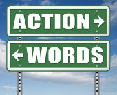 action words the time to act is now or never mister big mouth last stop showing off 3D, illustration poster