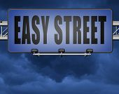 easy street and best way to do things simple and correct no risk and safe 3D, illustration poster