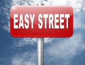 easy street, keep it simple no risk and safe solution 3D, illustration poster