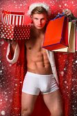 Handsome Macho Santa Man poster