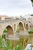 pic of gare  - romanesque bridge over river Arga - JPG