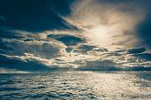 Seascape Sea Horizon And Sky. poster