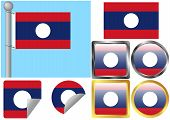 Flag Set Laos