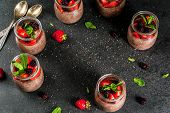 Chocolate Pudding With Chia Seeds poster
