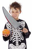 Постер, плакат: Мальчик в Хэллоуин