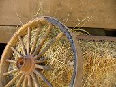 Broken Stagecoach Wheel, Landscape View (offset)