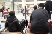 African-french People Sitting And Waitting Train At Gare De Paris-est Or Paris Gare De Lest Railway poster