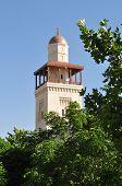 König Hussein Moschee Minarett