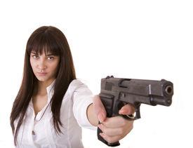 picture of girls guns  - Beautiful young women with gun - JPG