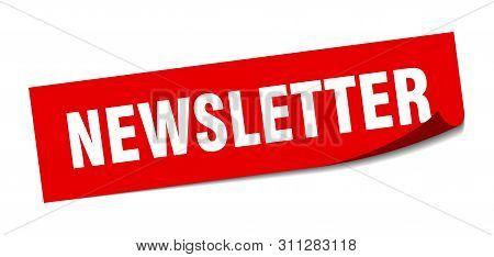 poster of Newsletter Sticker. Newsletter Square Isolated Sign. Newsletter