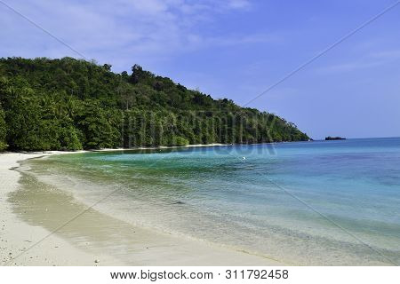poster of Beautiful Landscape In The Indonesia, Lampung Ocean Coastline