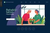 Medical Insurance - Rehabilitation And Physiotherapy -modern Flat Vector Concept Digital Illustratio poster