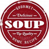 Vintage Style Soup Stamp