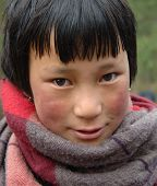 Mischievious Bhutanese Child