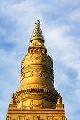 Golden Pagoda Golden Stupa Temple  , Thailand .   Golden Pagoda Golden Stupa Temple  , Thailand . poster