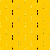 Scraper Pattern Seamless Repeat Geometric Yellow For Any Design poster