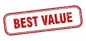 Best Value Stamp. Best Value Square Grunge Sign. Best Value poster