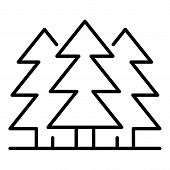Fir Tree Forest Icon. Outline Fir Tree Forest Icon For Web Design Isolated On White Background poster