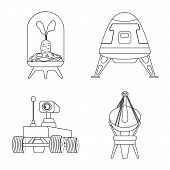 Bitmap Illustration Of Mars And Space Symbol. Collection Of Mars And Planet Stock Symbol For Web. poster