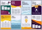 Business Flyers. Product Ads Brochure Pages Design Template With Colored Abstract Modern Forms And P poster