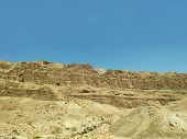 Negev Desert Rocks, Mountains And Hills In Israel, Desert Land And Canyon Background. Exotic Lands W poster