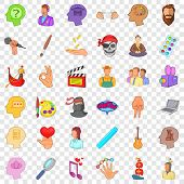Creative Occupation Icons Set. Cartoon Style Of 36 Creative Occupation Icons For Web For Any Design poster