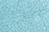 Broken Tiles Mosaic Seamless Pattern. Blue Dark Tile Wall High Resolution Photo Or Brick Seamless Wi poster
